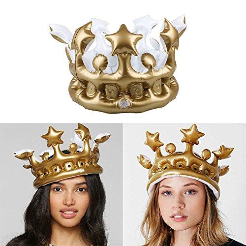 Kicode Gonfiabili Cappelli Corona della festa di compleanno di Cosplay gonfiati Strumenti Organizzi i puntelli bambini migliore regalo del partito 1 Confezione