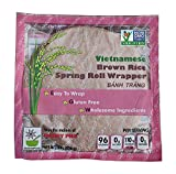 Star Anise Foods Gluten Free Rice Paper Wrappers for Spring Rolls, Egg Roll Wrappers, Wonton Wrappers, 135 Wrappers / 48 Oz, 8 Oz. Per Bag, Pack of Six Bags
