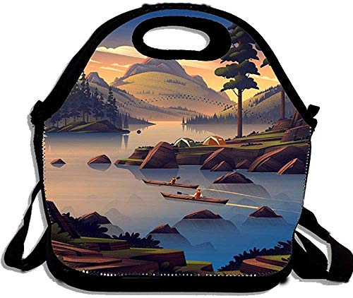 Bolsa de almuerzo Bento Box Wilderness Survival Travel Canoe Race Custom Picnic Cooler Bag Lunch Tote Bag para mujeres y hombres