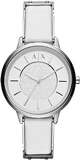 Armani Exchange Women's Quartz Watch analog Display and Leather Strap, AX5300