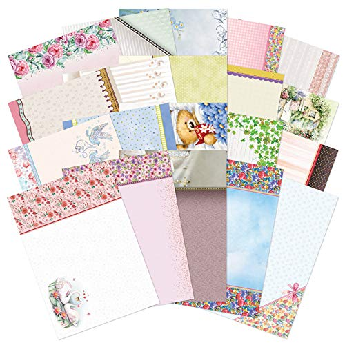 Hunkydory AS200 - All Occasions Adorable Scorable Karton, 2 x A4 Bögen mit 20 Designs