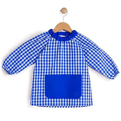 HOMYBABY® Babi escolar infantil para guarderia y colegio - Bata escolar para niño o niña - Baby escolar (Azul, 1)