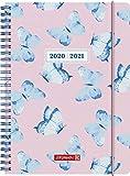 """BRUNNEN 1072150041 """"Schmetterling"""", Wochenkalender/Schülerkalender 2020/2021, 2 Seiten = 1 Woche , Blattgröße 14,8 x 21 cm , A5 , PP-Einband"""