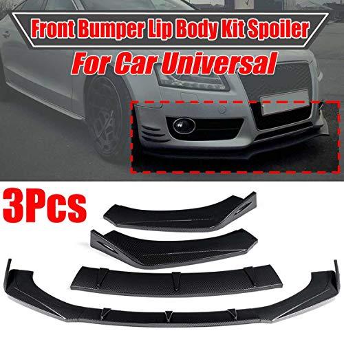 TDPQR 3pcs Auto FrontstoßStange Lip Splitter für Audi A5 Sline S5 RS5 2009-2016,Carbon Look Frontspoilerlippe StoßStange Diffusor Kinn SchüRze Schutz Body Kit Dekoration
