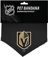 NHL Vegas Golden Knights 655257719290 Sports Fan Pet Bandanas, Black, Small