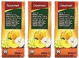 Gourmet - Zumo de melocotón, manzana y uva - 3 x 200 ml