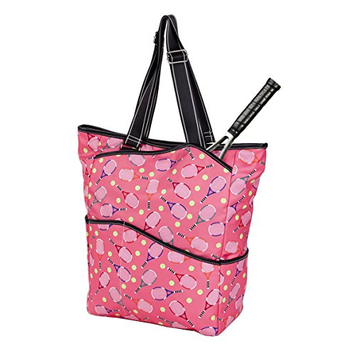 Sydney Love Sport Serve It Up Tall Tote w Tennis Racquet Compartment, Pink