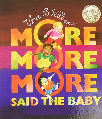 Product Image of the 'More More More,' Said the Baby Board Book (Caldecott Collection)