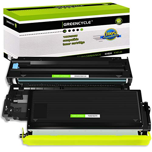 GREENCYCLE (1 Drum + 1 Toner) Replacement Toner Cartridges & Drum Compatible for Brother TN570 TN540 DR510 DR-510 TN-570 TN-540 Set DCP-8040 DCP-8040D DCP-8045D