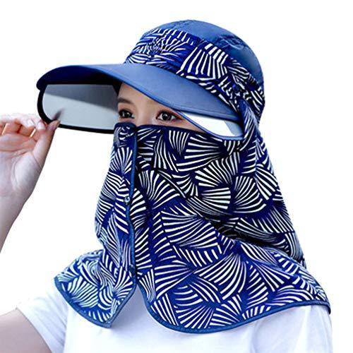 VALICLUD Gorra para El Sol Sombrero Anti-UV Simple Gorra para El Cuello Gorra de Verano para La Cara...