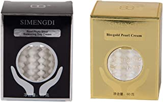Lot Simengdi Bio-gold Pearl Cream + Simengdi Phyto - Silver Balancing Day Cream Anti-ageing Wrinkle Pearl Cream