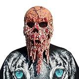 WSJMJTM Schmelzender Gesichtslatex Der Blutigen Zombiemaske, Der Erwachsenes Gehendes Totes Halloween Beängstigend Ist