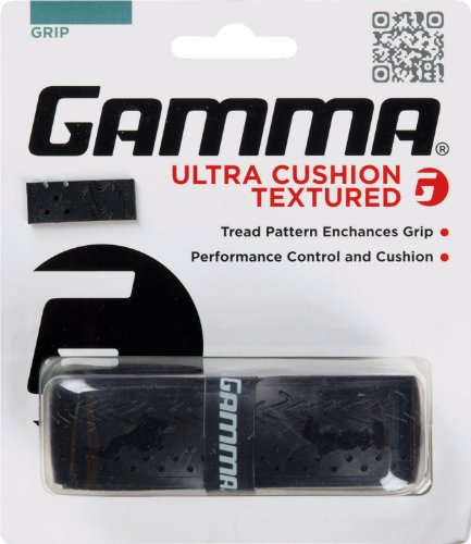 Gamma Sports Tennis Racquet Ultra Cushion Replacement Grips, Textured