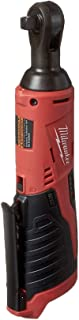 "Milwaukee 2457-20 M12 Cordless 3/8"" Sub-Compact 35 ft-Lbs 250 RPM Ratchet w/.."