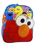 Sesame Street Elmo Toddler Boys 14 inch School Backpack (One Size, Blue/Red)