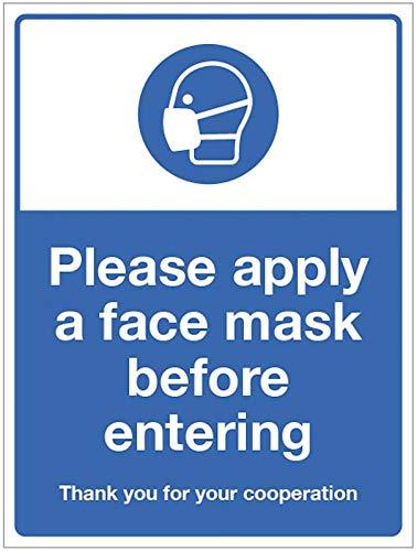 Si prega di applicare la maschera prima di entrare.