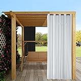 Cortinas opacas impermeables para exteriores, 2 paneles, cortinas para...