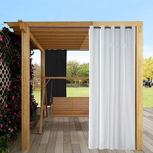 TOPCHANCES Tenda oscurante impermeabile da giardino, cortile, tenda parasole per interni ed esterni con occhielli per porte scorrevoli, 2 pannelli