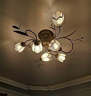 LED Lámpara de techo Creativo Diseño Flores Vaso Pantalla Decoracion Plafones Moderno Metal Luz de Techo Adecuado para Dormitorio Sala de estar Restaurante Villa Estudio Oficina 6 llamas E14 6 * 5w