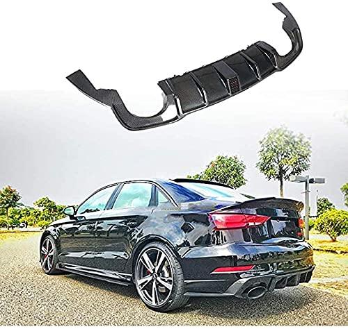 Para Audi RS3 Sedan 4-Door 2017-2019,Real Carbon Fiber Difusor De Parachoques Trasero De Coche,Kits De CarroceríA De AleróN De Coche Accesorios De ModificacióN Y ActualizacióN