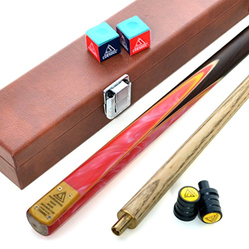 CUESOUL 57' 2 Piece Jointed Snooker/Pool Cue Hand-Spliced with Leatherette...