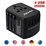 All-in-One Universal Reiseadapter inkl. 4 USB-Ports