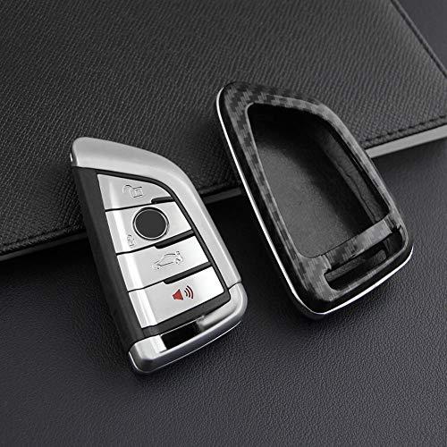 Schlüssel Hülle Für BMW-Schlüsselanhänger-Abdeckung Voller Schutz Hartschalen-Abdeckungs-Schlüsselanhänger-Kasten Kompatibel mit Smart Key BMW X1 X2 X3 X4 X5 X6 der schlüssellosen BMW-Fernbedienung
