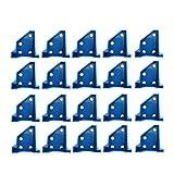 20 unids ABS Laminado Herramienta de madera dura Separador Doble Extremo Mini 1/4' 1/2' (Azul)
