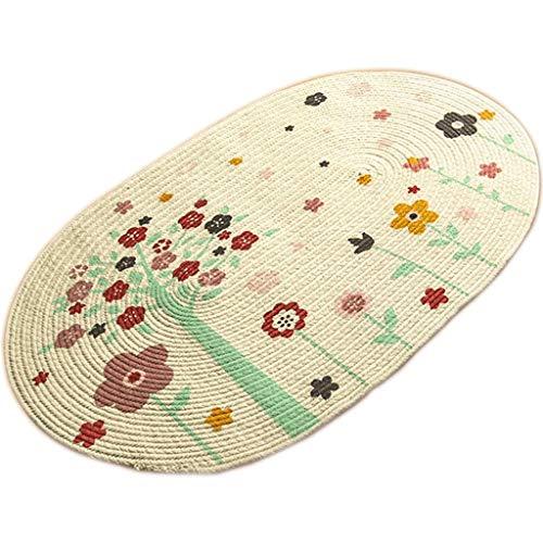 WWTCLL handgemaakt katoen in de keuken, deurmat, antislip tapijt, absorberend, voor badkamer in de slaapkamer, meerdere stijlen.