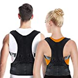 OMID Posture Corrector For Women and Men, Lower and Upper Back Brace for Back Support, Adjustable Back Straightener helps with Keeping Good Posture, providing Neck & Shoulder Pain Relief
