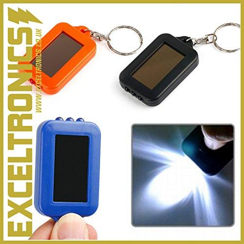 Panneau solaire portable lampe torche solaire Alimenté lampe de poche porte-clés 3 alimentation LED porte-clés lampe de poche lumière