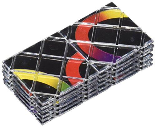 LingAo 12 Panels 5 Rings Master Magic Folding Twisty Puzzle Cube (12 Piece), Black
