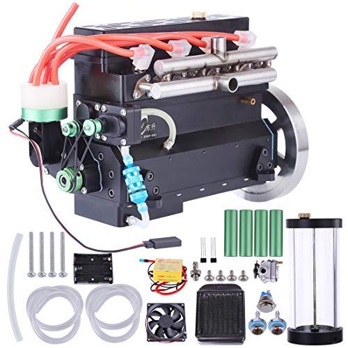 deguojilvxingshe 32cc Inline Vierzylinder Wassergekühlter Benzinmotor für RC Modell Auto / Schiff (mit Kraftstofftank, Zündkerze und Zünder)