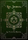 RPG Journal Mixed Paper: Ruled, Graph, Hexagon and Dot Grid | Role Playing Game Companion Green Leather Cover (Dungeon RPG Game Series)