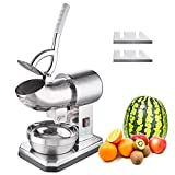 Yescom Electric Dual Blades Ice Shaver Snow Cone Machine Crusher Stainless Steel Bowl 2500 r/m 440...