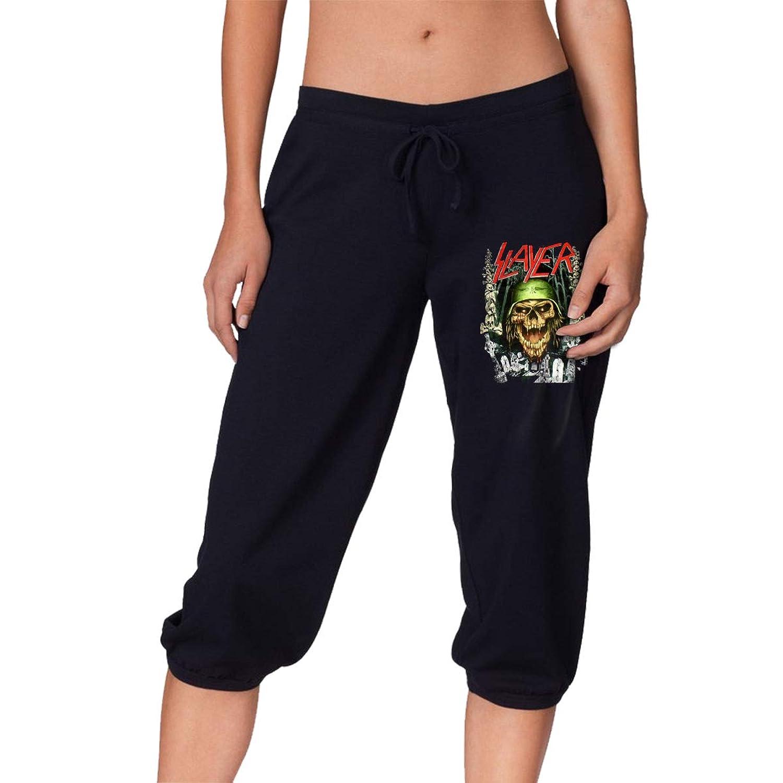 夏、春、秋、女の子7点丈パンツ 音楽Slayer レディース スポーツズボン、スポーツ、ランニング、ショッピング、ショッピング、学校、フィットネス運動