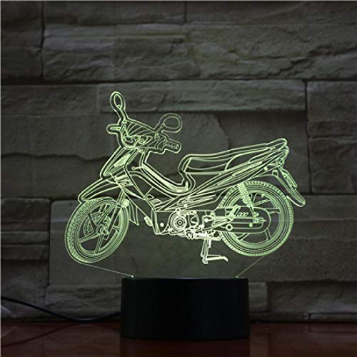 Lámpara De Mesa 3D Para Motocicleta, Decoración De Regalo Visual Led Táctil Colorida, Luz De Noche Led Pequeña, Decoración De Regalo De Navidad, Lámpara Para Niños