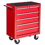TecTake Chariot d'atelier servante à outils | tiroirs spacieux verrouillables | -diverses modèles- (type 1 | no....