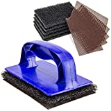 [5 Grill Screens, 5 Pads, 1 Holder Pack] Grill Cleaning Kit, Griddle Metal Scouring, Heavy Duty...