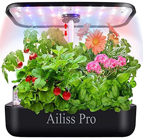 Hydroponics Growing System 12Pods Herb Garden Indoor Herb Garden Starter Kit Auto Smart Garden...