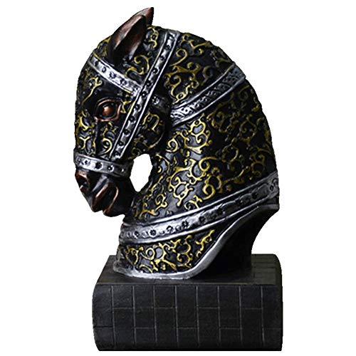 LYTBJ Decoración de Escultura de Escritorio, Libro de Cabeza de Caballo por sujetalibros Ornamento de Escritorio Estatua Decoración de Escritorio Organizador de Libros