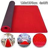 Husuper Alfombra Eventos 1.2 x13.7 m Alfombra roja Antideslizante Roja Moqueta Fiesta Celebración Decoración de Bodas Presentaciones Inauguraciones y Actividades Exteriores e Interiores