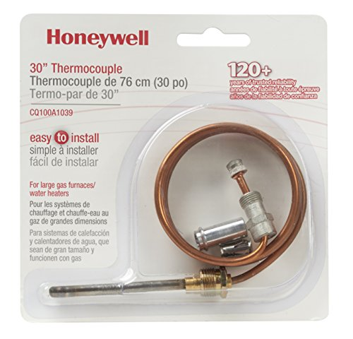 Honeywell Home CQ100A1039/U CQ100A1039 Replacement Thermocouple for Gas Furnaces, Boilers and Water Heaters, 30-Inch