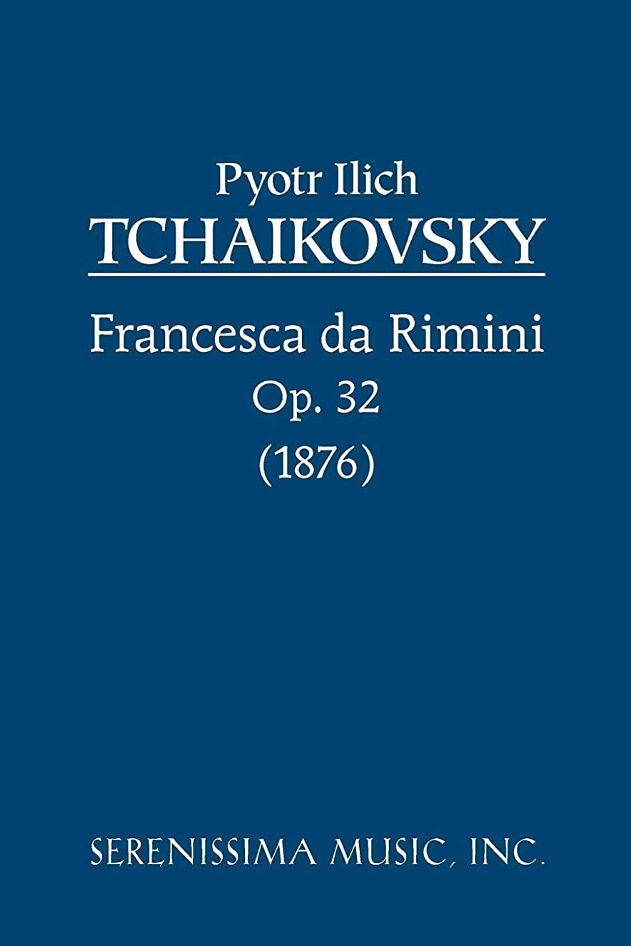 儀式ポーンラベルFrancesca da Rimini, Op. 32: Study score