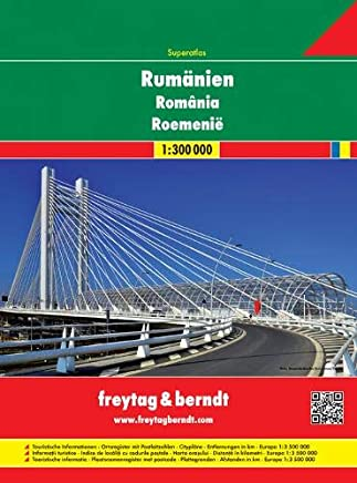 Romania Moldova 1:300.000: Wegenatlas 1:3 000 000
