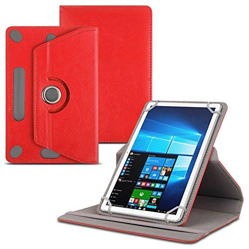 Jay-tech Tablet PC TXE10DS TXE10DW TXTE10D TXE10DW2 Tablet Schutzhülle für 10.1 Zoll Tablet Hülle 360° drehbar aus hochwertigem Kunstleder mit Standfunktion Schutz Tasche Cover Case Etui , Farbe:Rot