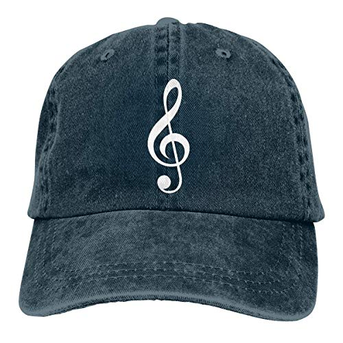 Reset 523 Cowboy Baseball Cap Violinschlüssel Musik einstellbar Classic Washed Hat schwarz