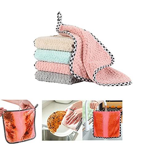JIANGLAI Toalla De Plato De Cocina Diaria para Trapo De Cocina Antiadherente Aceite Espesado Limpieza De Mesa Accesorios De Cocina Herramientas Suministros Toalla