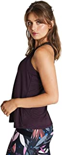 Rockwear Activewear Women's Winter Bloom Perforated Crop BlackBerry 6 from Size 4-18 for Singlets Tops