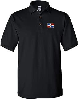 Custom Polo Shirt Dominican Republic Embroidery Design Cotton Golf Shirt for Men